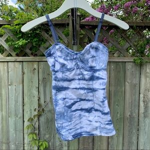Aritzia Talula Bustier Tie Dye Tank Top